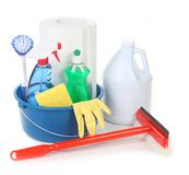 Cleaning Supplies for Around the House Stock Photo