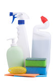Cleaning supplies and chemicals Royalty Free Stock Photos