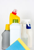 Cleaning Supplies And Cloths Stock Images