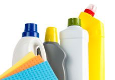 Cleaning Supplies And Cloths Royalty Free Stock Photo