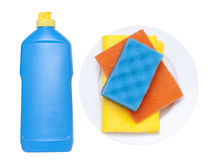 Cleaning supplies for dishes Stock Image