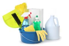 Cleaning Supplies for the Household Stock Images