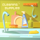 Cleaning Supplies Illustration Royalty Free Stock Photo