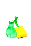 Cleaning supplies isolated Royalty Free Stock Images