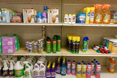 Cleaning supplies for sale on bequia Royalty Free Stock Photography