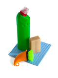 Cleaning supplies and tools Royalty Free Stock Photo