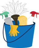Cleaning Supply Bucket Stock Photo