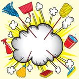 Cleaning Supply explosion Stock Image