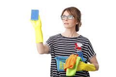 Cleaning the surface Stock Photos