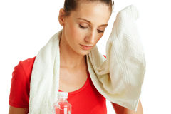 Cleaning sweat royalty free stock photos