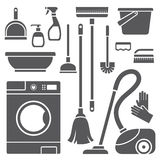 Cleaning symbols Stock Photos