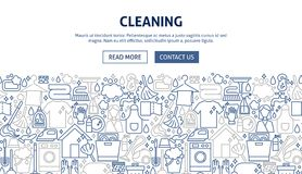 Cleaning sztandaru projekt Zdjęcia Stock
