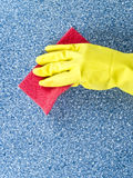 Cleaning table Stock Image