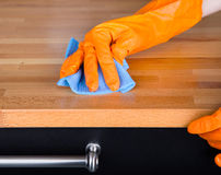Cleaning table Royalty Free Stock Photography