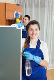 Cleaning team Stock Photos