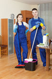 Cleaning team Stock Image