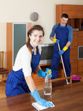 Cleaning team. Is ready to work Stock Image