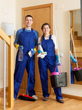 Cleaning team in uniform Stock Photography