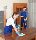 Cleaning team in uniform Stock Photos