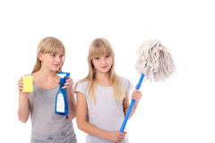 Cleaning teens Stock Images