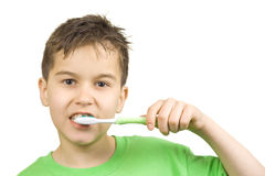 Cleaning teeth Stock Image