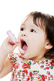 Cleaning teeth Royalty Free Stock Photography