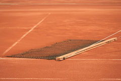 Cleaning the tennis court Royalty Free Stock Photos