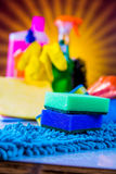 Cleaning theme, saturated concept Stock Photo