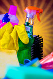 Cleaning theme, saturated concept Royalty Free Stock Image