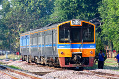 Cleaning THN Diesel railcar Stock Images