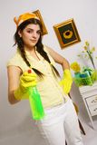 Cleaning time Stock Photography