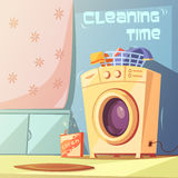 Cleaning Time Illustration Stock Images