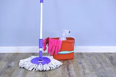 Cleaning Time Royalty Free Stock Photos