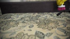 Cleaning tkanina kanapa z parowym cleaner zbiory wideo
