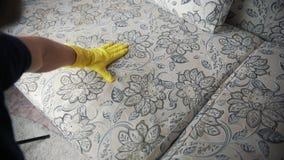 Cleaning tkanina kanapa z parowym cleaner zbiory