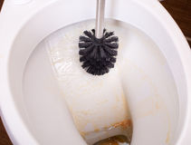 Cleaning toilet bowl Royalty Free Stock Photos