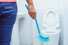 Cleaning. Toilet flush cleaning water bathroom Royalty Free Stock Images