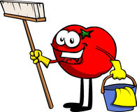 Cleaning tomato Royalty Free Stock Images