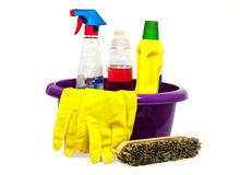 Cleaning tools Royalty Free Stock Photography