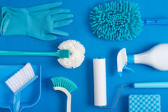 Cleaning tools background. Housecleaning.product Stock Photos