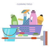 Cleaning tools Royalty Free Stock Photos