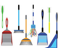 Cleaning tools. Home Cleaning tools illustrator stock illustration
