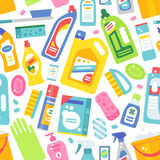 Cleaning tools pattern vector. Stock Photography