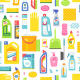 Cleaning tools sweamless pattern vector. Stock Photography