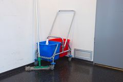 Cleaning trolley Stock Images