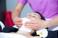 cleaning twarzy skóra Obraz Stock
