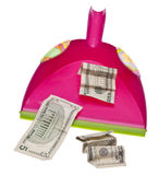 Cleaning Up the Budget Royalty Free Stock Image