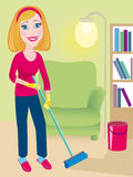 Cleaning up is in a house Royalty Free Stock Image
