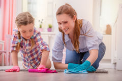 Cleaning up the room Royalty Free Stock Photography