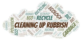 Cleaning Up Rubbish word cloud stock illustration